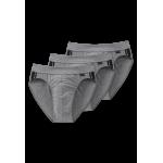 Schiesser Slip - Cotton Stretch - lot de 3 Slips - 035110 - gris