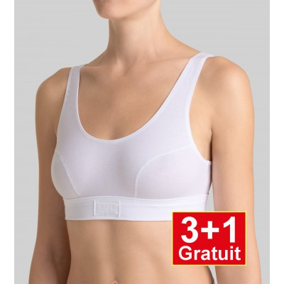 Double Comfort Top -  4-pack (3+1 gratuit) - lot de 4 tops  - blanc