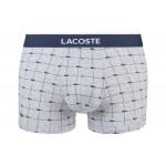 LACOSTE - Lot de 2 boxers courts - rouge/gris
