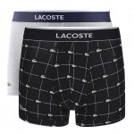 LACOSTE - Lot de 2 boxers courts - noir/gris