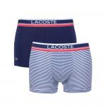 LACOSTE - Lot de 2 boxers courts - vert/marine